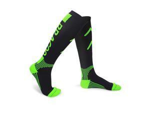 BRACOO LS71 Performance Compression Socks, Green, Size M (pair)