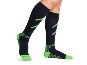 BRACOO LS71 Performance Compression Socks, Green, Size L (pair)