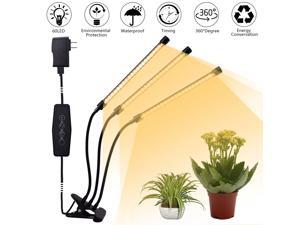LED Grow Light Plant Growing Lamp Lights with Clip for Indoor Plants Veg