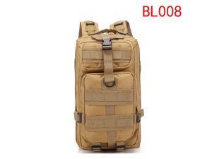 30L Military Tactical Backpack Camping Hiking Trip Rucksack Daypack Mud Color