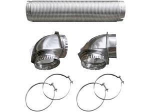 110050 Semi-Rigid Dryer Vent Kit with Close Elbow