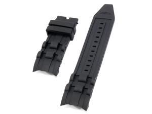 Replacement 220mm 26mm Black Rubber Watch Band Strap for Invicta Pro Diver