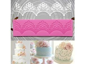 Plum flower Fondant Mold Cake Lace Decoration Silicone Sugarcraft