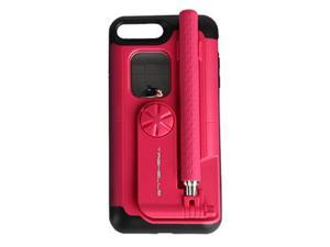 Creative All In One Portable bluetooth Selfie Stick with Remote Controller Protective Case for iPhone 7 / 8 / 7 Plus / 8 Plus iPhone 7/8/Rose Red