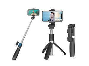 Extendable Selfie Sticks Monopod Tripod bluetooth Remote Shutter Mini Portable Selfie Sticks for iPhone Xiaomi Huawei