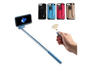Creative All In One Portable bluetooth Selfie Stick with Remote Controller Protective Case for iPhone 7 / 8 / 7 Plus / 8 Plus