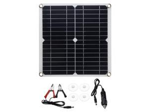 20W Solar Panel Battery Charger Monocrystalline High Conversion Rate Solar Power Kit