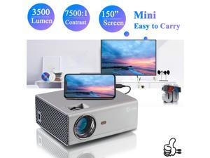"""Portable Projector 720P Native, 3500 Lumens Mini Home Theatre Projector, Full HD 1080P Supported, 130"""" Display with Phone, Tablet, TV Stick, HDMI, USB, VGA for Home Entertainment Outdoor Movie …"""