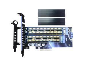 GLOTRENDS 2 in 1 22110 M.2 Adapter for M.2 PCIE SSD and M.2 SATA SSD + M.2 Heatsink