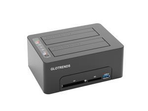 GLOTRENDS Multifunction Hard Drive Duplicator, CF/SD Reader, USB 3.0 Hub with Quick Charger (BM2)