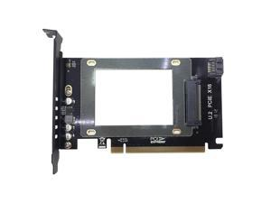 """GLOTRENDS 2 in 1 2.5"""" U.2 SSD to PCIE 3.0 x 16 Adapter or 2.5"""" SATA HDD/SSD to SATA III Adapter"""