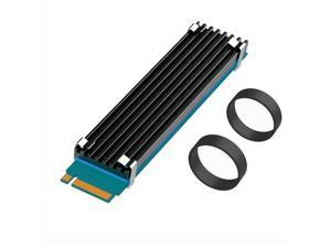 GLOTRENDS 22110 NVMe Heatsink M.2 Heatsink Set for 22x110 M.2 SSD with Silicone Thermal Pad