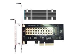 GLOTRENDS M.2 PCIe NVMe 4.0/3.0 Adapter with 0.12 Inch Thick M.2 Heatsink for M.2 PCIe SSD (NVMe and AHCI), PCI-E GEN4 Full Speed, Desktop PC Installation (PA09-HS)