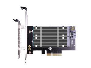 GLOTRENDS 2 in 1 M.2 PCIE NVMe 4.0/3.0 Adapter with M.2 Heatsink for M.2 PCIE NVMe SSD and M.2 NGFF SATA SSD (PA12-HS)
