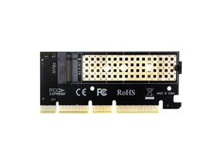 GLOTRENDS M.2 PCIe 4.0/3.0 Adapter Without Bracket for M.2 PCIe SSD (NVMe and AHCI), PCI-E GEN4 Full Speed