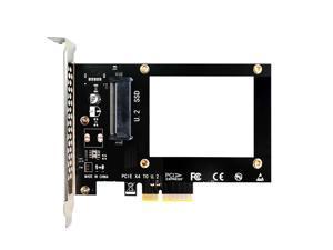 GLOTRENDS U.2 (SFF-8639) PCIe NVMe 4.0/3.0 Adapter for U.2 PCIe SSD, PCI-E GEN4 Full Speed, Desktop PC Installation