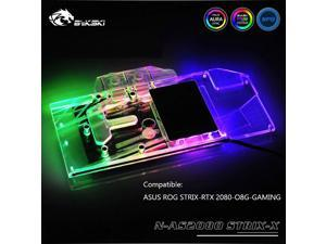 Bykski N-AS2080STRIX-X, Full Cover Graphics Card Water Cooling Block, For Asus Rog Strix-RTX2080-O8G-Gaming