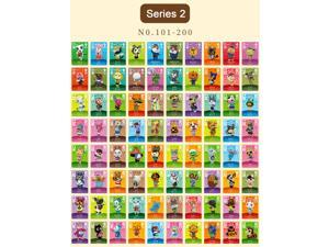 Animal Crossing - New 100Pcs Series 2 No.101-200 Full Set NFC PVC TAG Mini Cards for Switch AMIIBO WII U (with Card box )