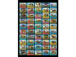 Animal Crossing - New 50Pcs CV Car Card New Leaf Welcome Set NFC PVC TAG Mini Cards for Switch AMIIBO WII U (with Card Package )