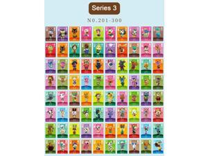 Animal Crossing - New 100Pcs Series 3 No.201-300 Full Set NFC PVC TAG Mini Cards for Switch AMIIBO WII U (With Card box)