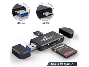 PNGFIN USB 3.0 SD Card Reader, USB Type C Memory Card Reader, OTG Adapter for SDXC, SDHC, SD, MMC, TF, RS- MMC, Micro SDXC, Micro SD, Micro SDHC Card and UHS-I Cards