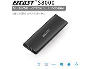 EZCAST NVME M.2 Case M.2 to Type C USB 3.1 GEN2 PCI EXPRESS GEN3x2 SSD Adapter for NVME SATA M KEY M/B Key PCIE Nvme M.2 SSD Enclosure For Computer & OTG Moble Phone