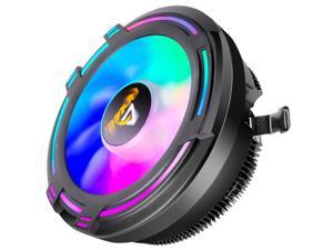 RGB PC Fans CPU Cooler Radiator DC 12V 3Pin Colorful 120mm CPU Cooling Fan PC Heatsink for Intel/AMD Support Under 95W CPU