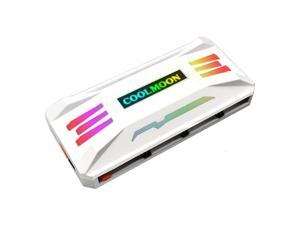 P-ARGB Universel COOLMOON RGB Controller 4Pin PWM+5V 3Pin ARGB Cooling Fan Smart Intelligent Remote Control for PC Case Chassis Fan Magnetic Installation