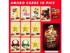 Super Mario 3D World + Bowser's Fury New 10Pcs Set NFC PVC TAG Mini Cards AMIIBO Cards for Nintendo Switch & WII U