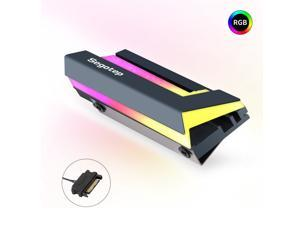 M.2 SSD Heatsink RAM Cooler RGB SATA AUTO Radiator Heat sink Cooling Passive Heat Cooler for PCIE NVME SATA M.2 2280 SSD Computer Cooling Vest Solid State Drive Cooler
