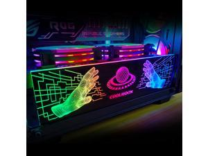 Universal COOLMOON RGB light Board Power Supply Warehouse Decoration Chassis Light Board Chassis Decoration for Computer Cases With Remote Control(small 4 Pin)