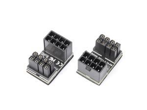 8pin Graphics Card Power Connector (180° Turning),Computer Cables Graphics Card Power Supply Connector 8PIN Adapter 180° Turning(2 PACK )