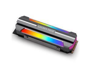ARGB M.2 SSD HeatSink Cooler RGB Hard Drive Cooling Heat Sink Case M.2 2280 Addressable RGB 5V 3Pin Radiator NVME PCIE for Gaming PC