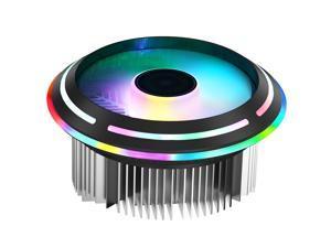PWM RGB CPU Cooler Radiator 120mm 12V 4Pin LED Color UFO Desktop PC CPU Fan Down-flow Quiet Heatsink for Intel 775 1155 1156 AMD AM4 AM3 CPU Slot