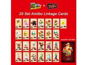 2021 New Release 25Pcs/set Super Mario 3D Worlds + Bowser's Fury Series Amiibo Tag NFC Card  Mini Cards For Nintendo Switch NS WII U