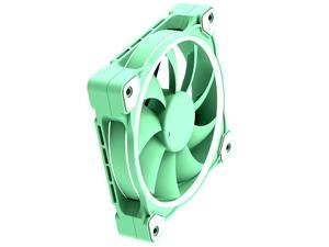ID-COOLING Pastel 120mm Case Fan White LED 4 Pin PWM Fan for PC Case/CPU Cooler