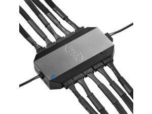 PWM Fan Controller Hub SATA Power Support 10 Fans Speed adjustment Centralized Temperature Control