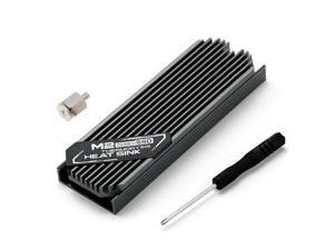 M.2 2280 SSD Hard Disk Aluminum Alloy Heat Dissipation Fin Heat Sink with Thermal Pad for Desktop PC for single/double Side SSD