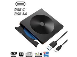 Type C USB 3.0 Slim External DVD RW CD Writer Drive Burner Reader Player Optical Drives CD-RW Burner Reader Recorder For Laptop