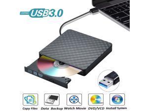 USB 3.0 External CD DVD Drive, Ultra Slim CD/DVD +/-RW Writer Burner High Speed Data Transfer DVD/CD-ROM Drive for Windows 10/8/7 Laptop Desktop Mac MacBook Pro Air iMac HP Dell LG Asus