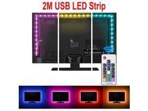 Led Strip lights, Bias Lighting for 40-60 inch HDTV 6.6ft RGB USB Powered LED Light Strip with RF Remote,TV Backlight Kit for Flat Screen TV, PC