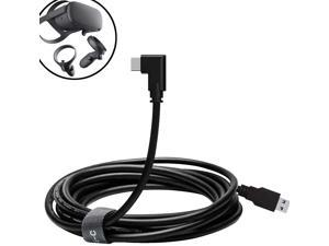Oculus Quest Link Cable, USB 3.0 USB A to USB C Cable 16FT, 90 Degree Angled High Speed Data Transfer & Fast Charging Cable Compatible for Oculus Quest and Oculus Quest 2 to Gaming PC (16ft/5M)