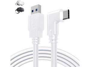 for Oculus Quest 2 Link Cable 16ft(5M), USB Type C to A, USB 3.2 Gen1 5Gbps/3A, Oculus Link Cable, Oculus Link, Oculus Cable with High Speed Data Transfer & Fast Charging (White, 5m/16ft)