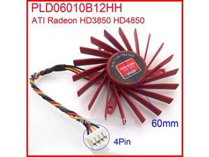 NTK PLD06010B12HH W7000 60mm DC 12V 0.4A 4Pin For ATI Radeon HD3850 HD4850 W7000 Graphics Card Cooler Cooling Fan