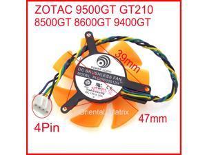 PLD05010S12L PLD05010S12H 12V 0.20A 47mm 4Pin For ZOTAC 8500GT 8600GT 9400GT 9500GT GT210 Graphics Card Fan