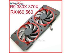 2pcs/lot FY09010H12LPB 12V 0.45A VGA Fan For XFX R9 380 380X R9 370 370X RX460 560 Graphics Card Fan 4Pin