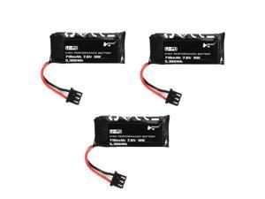 3PCS Hubsan H122D RC Quadcopter Spare Parts 7.6V 710mAh Li-Po Battery H122D-16