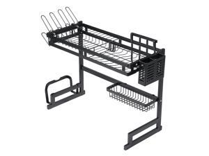Stainless Steel All-In-One Versatile Organizer Dishes Rack for Kitchen Storage Tool-1  Layer/85cm