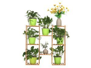 Multi-layer Plant Shelve Floor-standing Potted Plant Rack Thicken Batten Breathable Material for Garden Sets-Type C