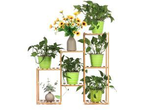 Multi-layer Plant Shelve Floor-standing Potted Plant Rack Thicken Batten Breathable Material for Garden Sets-Type B